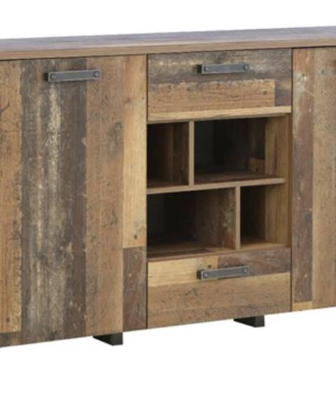 Sconto Komoda CLIF vintage wood/betón