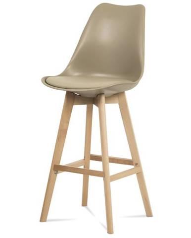 Barová stolička JULIETTE hnedá/buk
