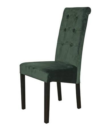 Jedálenská stolička FUCHSIA zelená/čierne nohy
