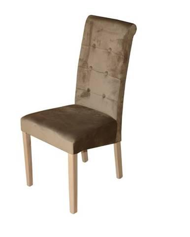 Jedálenská stolička FUCHSIA hnedá/dub