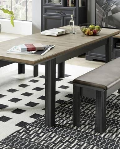 Jedálenský stôl JASMIN grafit/dub artisan