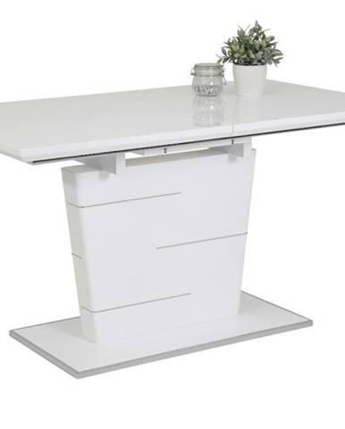 Jedálenský stôl SILA T biela vysoký lesk