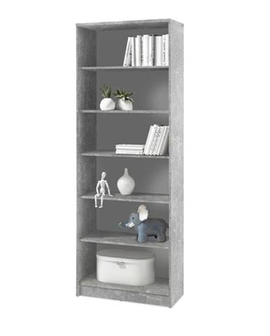 Regál/knižnica OPTIMUS 35-016 beton/biela
