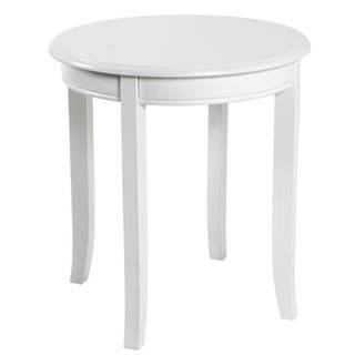 Prístavný stolík PROVENCE 3 biela