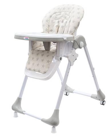 Jedálenská stolička NEW BABY Gray Star - ekokoža