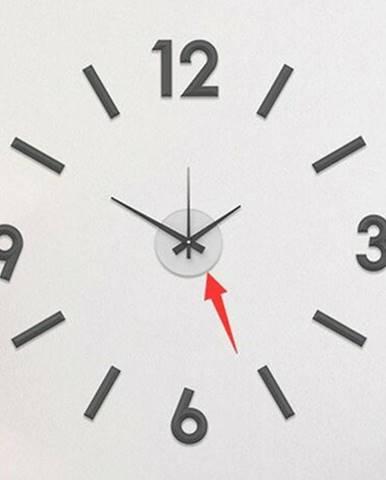 Nástenné nalepovacie hodiny Galant 60 cm, strieborná
