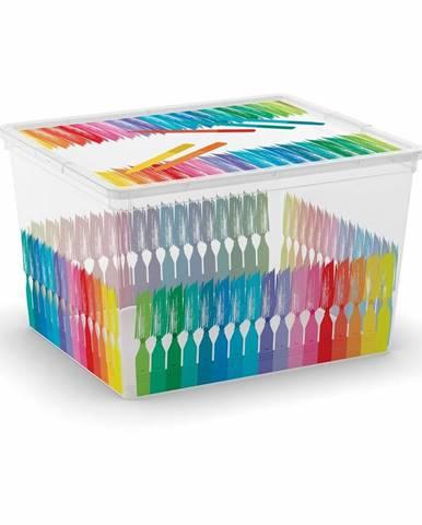 KIS Plastový úložný box C-Box Colours Arty CUBE, 27 L
