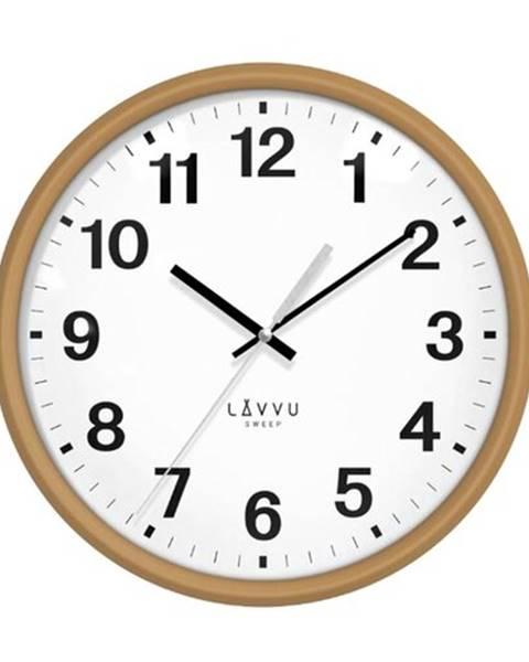Lavvu LAVVU LCS4040 - Svetlé drevené hodiny s plynulým chodom Essential Wood