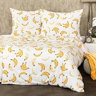 4Home Obliečky Banány micro, 140 x 200 cm, 70 x 90 cm