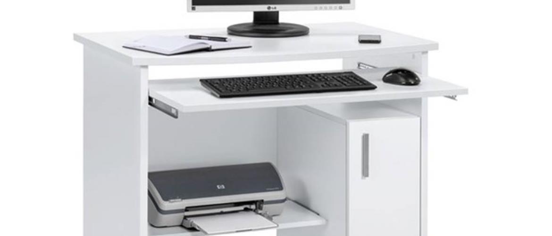 PC stôl JAMES biela