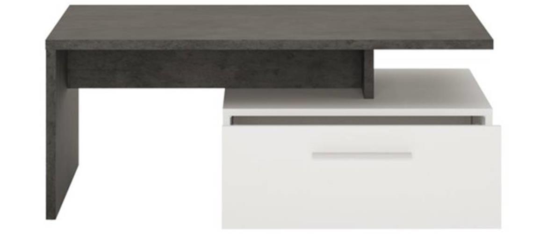 Konferenčný stolík ZINGARO biela/sivá