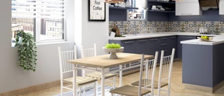 Jedálenský set Raul - 4x stolička, 1x stôl